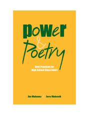 Power and Poetry cover