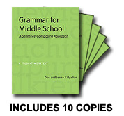 Learn more aboutGrammar for Middle School: Ten Pack
