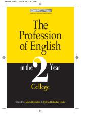 The Profession of English in the Two-Year College