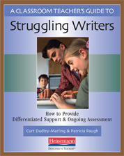 A Classroom Teacher's Guide to Struggling Writers cover