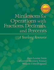 Minilessons for Operations with Fractions, Decimals, and Percents cover