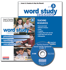 Word Study Lessons with CD-ROM, Grade 3 cover