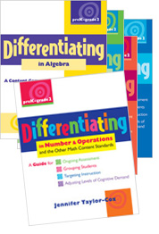 Differentiating in Number & Operations and the Other Math Content Standards, PreK-Grade 2 cover