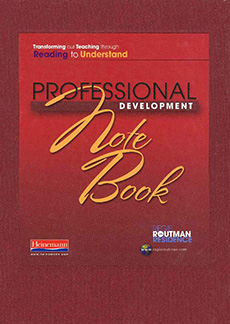 Regie Routman in Residence:  Transforming Our Teaching through Reading to Understand -- Professional Development Notebook (single copy) cover