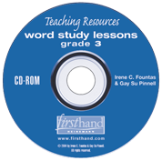Word Study Lessons: Teaching Resources CD-ROM: Grade 3