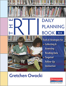 The RTI Daily Planning Book, K-6 cover