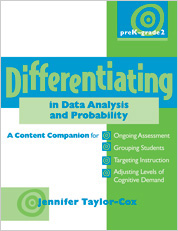 Differentiating in Data Analysis & Probability, PreK-Grade 2 cover