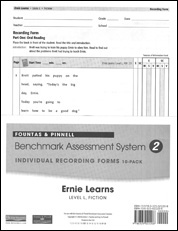 Recording Forms 10pack Ernie Learns (System 2)