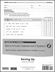 Recording Forms 10pack Saving Up (System 2)
