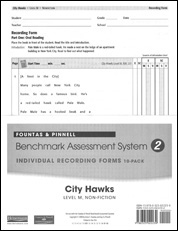 Recording Forms 10pack City Hawks (System 2)