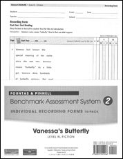Recording Forms 10pack Vannessa's Butterfly (System 2)