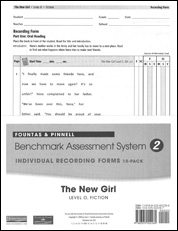Recording Forms 10pack The New Girl (System 2)