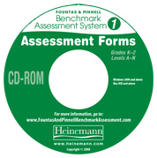 F&P Benchmark Assessment System 1 Assessment Forms CD-ROM