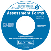 F&P Benchmark Assessment System 2 Assessment Forms CD-ROM
