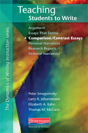 teaching students to write research reports by elizabeth kahn thomas teaching students to write comparison contrast essays cover