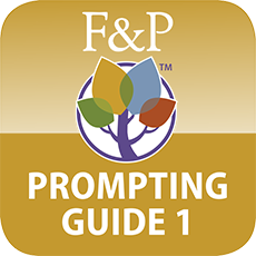 Fountas & Pinnell Prompting Guide Part 1: iPad App