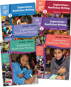 The K-5 Explorations in Nonfiction Writing Series Bundle cover