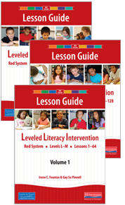 LLI Red Lesson Guides 1 - 3 (Pack)