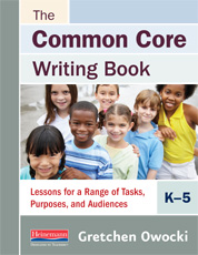 The Common Core Writing Book, K-5 cover