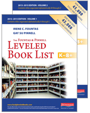 The Fountas & Pinnell Leveled Book List, K-8+ cover