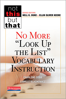 "No More ""Look Up the List"" Vocabulary Instruction cover"