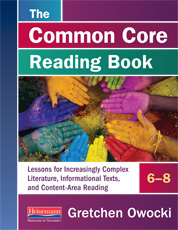 The Common Core Reading Book, 6–8 cover