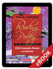 Reading Poetry in the Middle Grades (eBook) cover