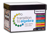 Learn more aboutTransition to Algebra Student Worktexts Replacement Pack, 10 sets of 12 units