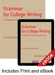 Learn more aboutGrammar for College Writing (Print eBook Bundle)