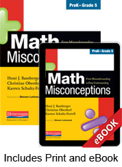 Math Misconceptions, PreK-Grade 5 (Print eBook Bundle)