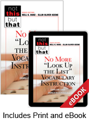 "No More ""Look Up the List"" Vocabulary Instruction (Print eBook Bundle) cover"