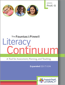 The Fountas & Pinnell Literacy Continuum, Expanded Edition cover