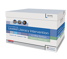 Fountas & Pinnell Leveled Literacy Intervention (LLI) Blue System, Second Edition