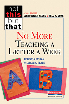 No More Teaching a Letter a Week cover