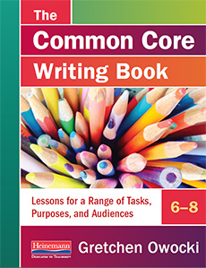 The Common Core Writing Book, 6-8 cover