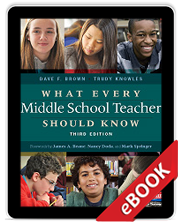What Every Middle School Teacher Should Know, Third Edition (eBook) cover