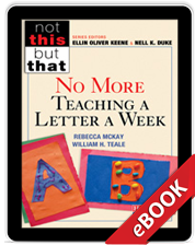 No More Teaching a Letter a Week (eBook) cover