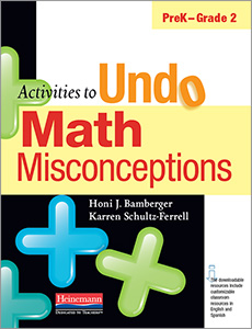 Activities to Undo Math Misconceptions, PreK-Grade 2 cover
