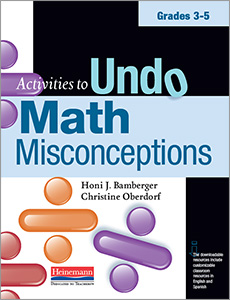 Activities to Undo Math Misconceptions, Grades 3-5 cover