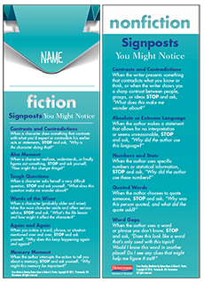 Notice & Note / Reading Nonfiction Signpost Student Bookmarks cover