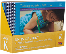 Units of Study in Opinion, Information, and Narrative Writing, Grade K cover