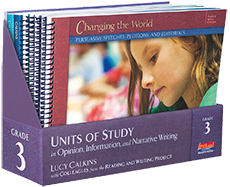 Units of Study in Opinion, Information, and Narrative Writing, Grade 3 cover