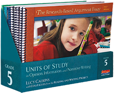 Units of Study in Opinion, Information, and Narrative Writing, Grade 5 cover