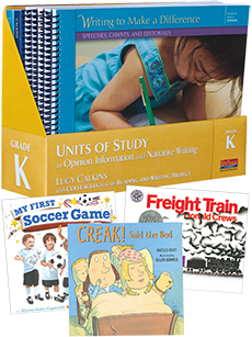 Units of Study in Opinion, Information, and Narrative Writing, Grade K with Trade Book Pack cover