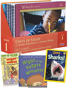 Units of Study in Opinion, Information, and Narrative Writing, Grade 1 with Trade Book Pack cover