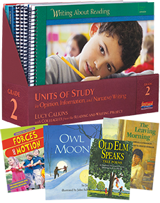 Units of Study in Opinion, Information, and Narrative Writing, Grade 2 with Trade Book Pack cover