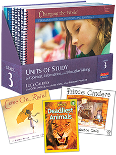 Units of Study in Opinion, Information, and Narrative Writing, Grade 3 with Trade Book Pack cover