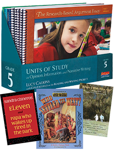 Units of Study in Opinion, Information, and Narrative Writing, Grade 5 with Trade Book Pack cover