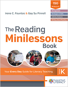 The Reading Minilessons Book, Kindergarten cover