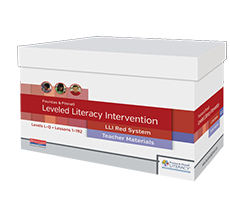 Fountas & Pinnell Leveled Literacy Intervention (LLI)  RED cover